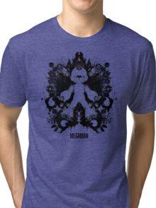 Megaman Nintendo Geek Psychological Diagnosis Ink Blot Tri-blend T-Shirt