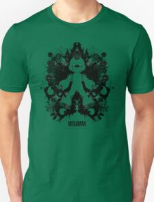 Megaman Nintendo Geek Psychological Diagnosis Ink Blot T-Shirt