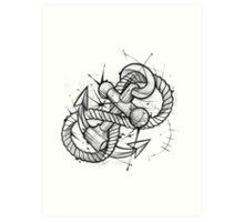 Infinity Anchor Art Print