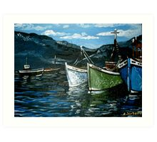 Harbour Scene Art Print