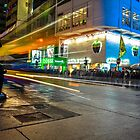 Mong Kok Bus Rush by Neta Bartal