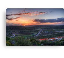 Sunrise Over Ein Tut Canvas Print