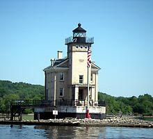 Rondout Lighthouse on the Hudson River by Wanda  Mascari