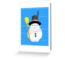 Ghibli snowman Greeting Card