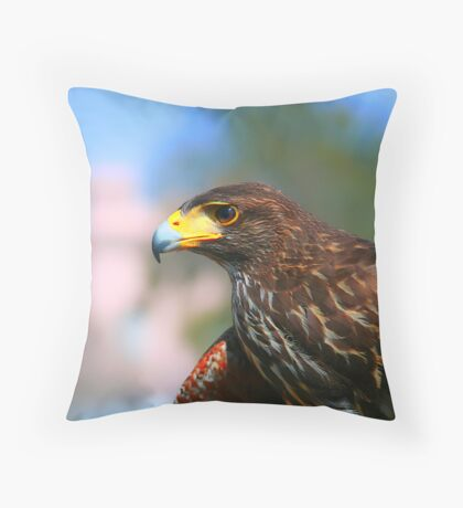 Hawk Eye Throw Pillow