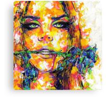 BLUE ROSE / Lana Del Rey Canvas Print
