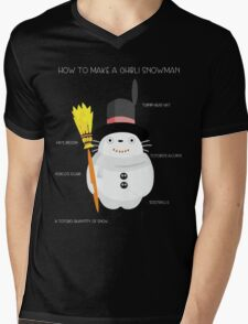 Ghibli snowman Mens V-Neck T-Shirt