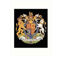 English Coat of Arms Art Print