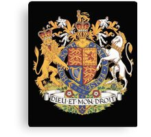 English Coat of Arms Canvas Print