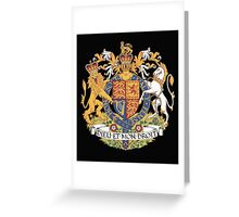 English Coat of Arms Greeting Card