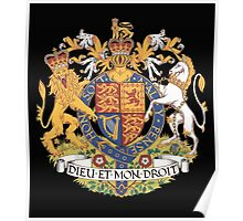 English Coat of Arms Poster