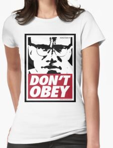 DON'T OBEY Womens Fitted T-Shirt