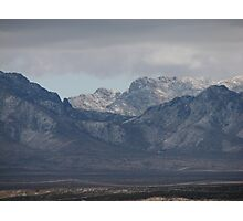 Organ Mountain Snow Photographic Print