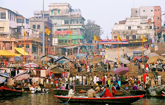 Everyday life in Varanasi by rochelle