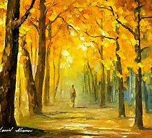 Alone In The Woods — Buy Now Link - www.etsy.com/listing/215031961 by Leonid  Afremov