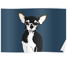 Zoe the Chihuahua Cartoon Portrait Poster