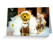 Glamour bear Greeting Card
