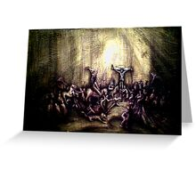 crucifiction stuy of rembrant Greeting Card