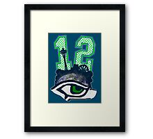 Seahawks 12th Man (SSH-000001) Framed Print