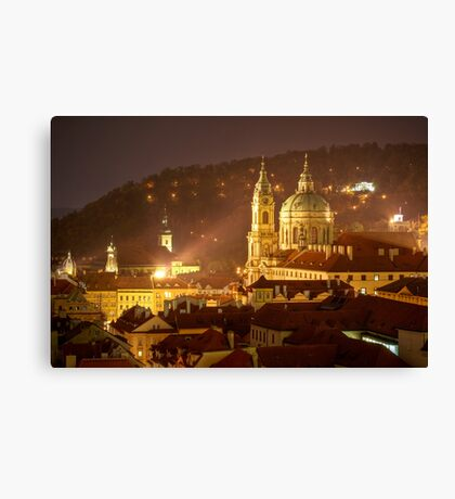 St. Nicholas Cathedral, Prague, Czech Republic Canvas Print