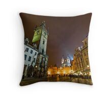Old Town Square, Prague, Czech Republic Throw Pillow