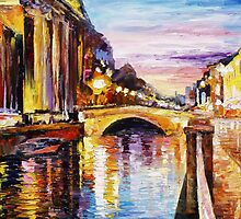 Venice Bridge — Buy Now Link - www.etsy.com/listing/215143942 by Leonid  Afremov