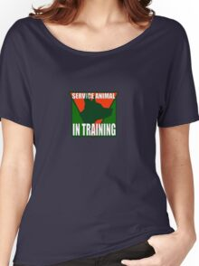 SERVICE DOG  IN TRAINING Women's Relaxed Fit T-Shirt