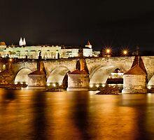 Prague Castle & Charles Bridge, Czech Republic by Petr Klapper