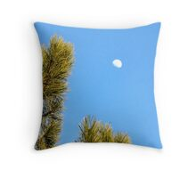 Moon in the Daytime Throw Pillow