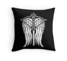 Angel Wings and Crossbow (Clean) Throw Pillow