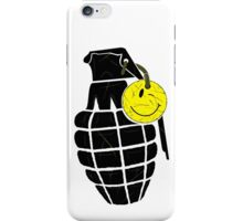 Blk Smiley Grenade iPhone Case/Skin