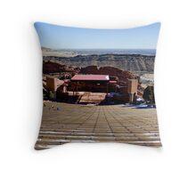 Red Rocks Amphitheater Throw Pillow
