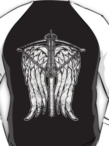 Angel Wings and Crossbow (Dirty) T-Shirt