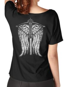 Angel Wings and Crossbow (Dirty) Women's Relaxed Fit T-Shirt