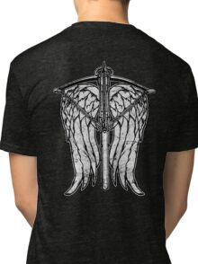 Angel Wings and Crossbow (Dirty) Tri-blend T-Shirt