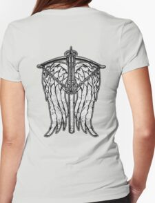 Angel Wings and Crossbow (Dirty) Womens Fitted T-Shirt