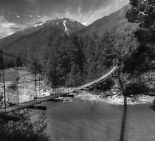 Bullers Gorge Footbridge (BW) by DavidsArt