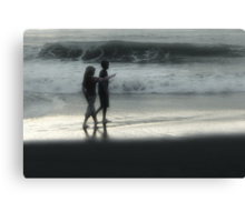 Young Walk on the Beach Canvas Print