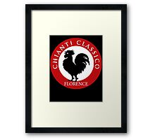Black Rooster Florence Chianti Classico  Framed Print