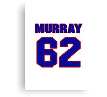 National football player Bill Murray jersey 62 Canvas Print