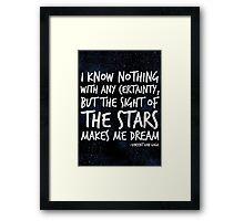 The Stars Make Me Dream Framed Print