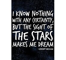 The Stars Make Me Dream Photographic Print
