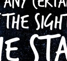 The Stars Make Me Dream Sticker