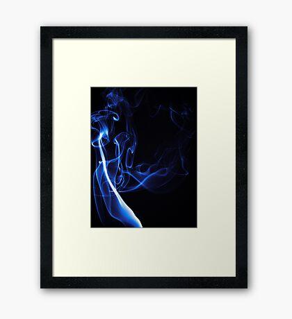 Blue Smoke Framed Print