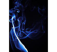 Blue Smoke Photographic Print