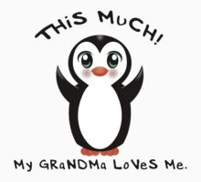 Grandma Loves Me ~ Baby Penguin Kids Tee