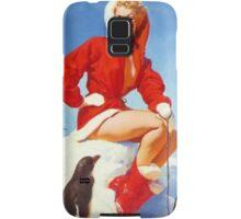 Christmas Gil Elvgren 50s Pinup Samsung Galaxy Case/Skin