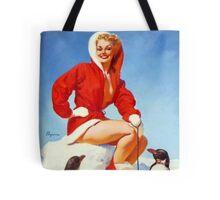Christmas Gil Elvgren 50s Pinup Tote Bag