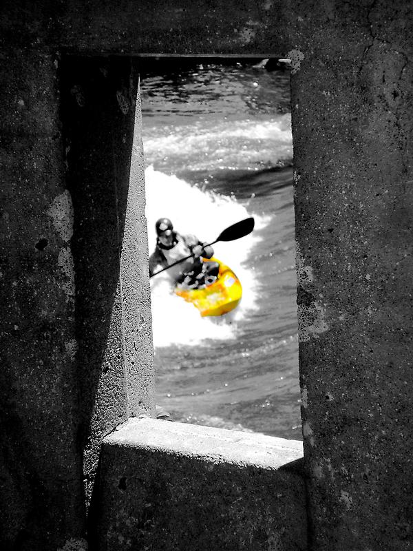 Concrete Kayaker  by Jon  Johnson