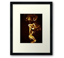 Golden Smoke Framed Print